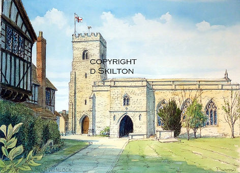 Much Wenlock church scaled down copyrigh