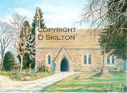 bridgnorth oldbury church watercolour co