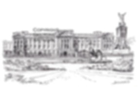 London Buckingham Palace pencil scaled d
