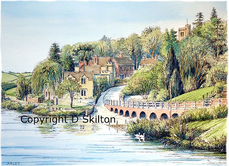Arley view of river severn painting copy