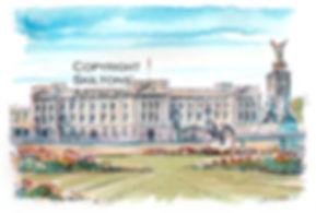 London buckingham palace watercolour sca