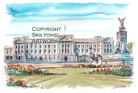 London buckingham palace watercolour sca