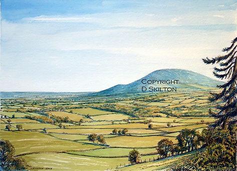 Wrekin from wenlock edge copyright jpeg.