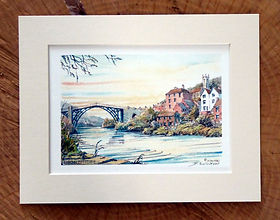 Dick Skilton Original Watercolour, Ironbridge Shropshire.