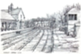 Highley Station SVR with footbridge and