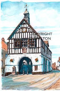 Bridgnorth town hall colour with copyrig