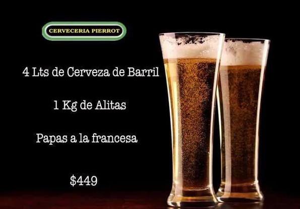 Promoción 4lt de Cerveza de Barril