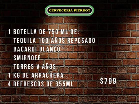 Promoción Botellas y Arrachera