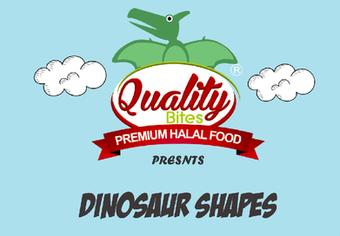Quality food - dino shapes