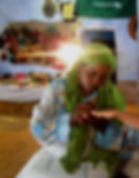 henna painting Nubian village