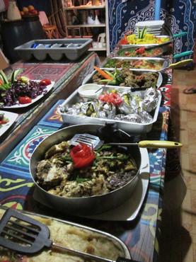 several dishes for dinner