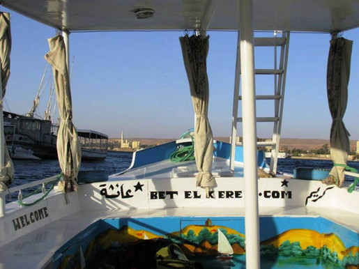 Sightseeing Aswan by motor boat