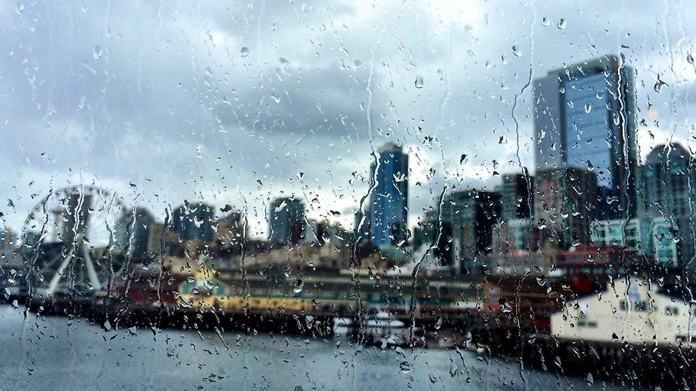 raining in seattle