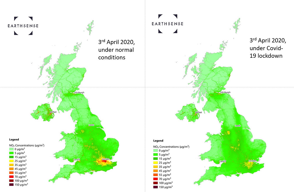 NO2 concentrations in the UK