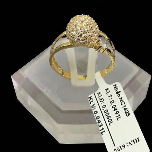 Nhẫn bi nữ đá trắng