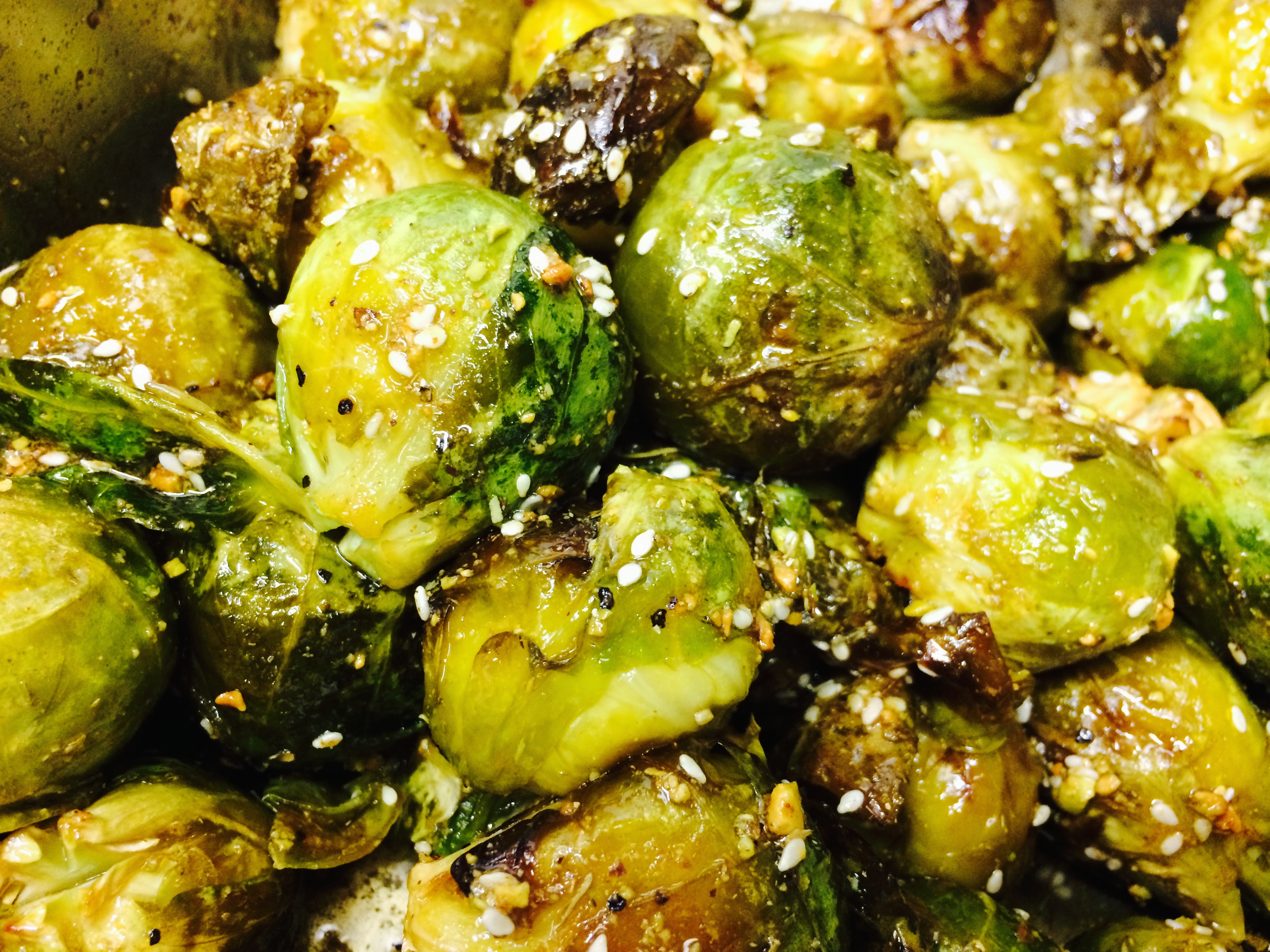 Brussel Sprouts with Honey & Dukkah