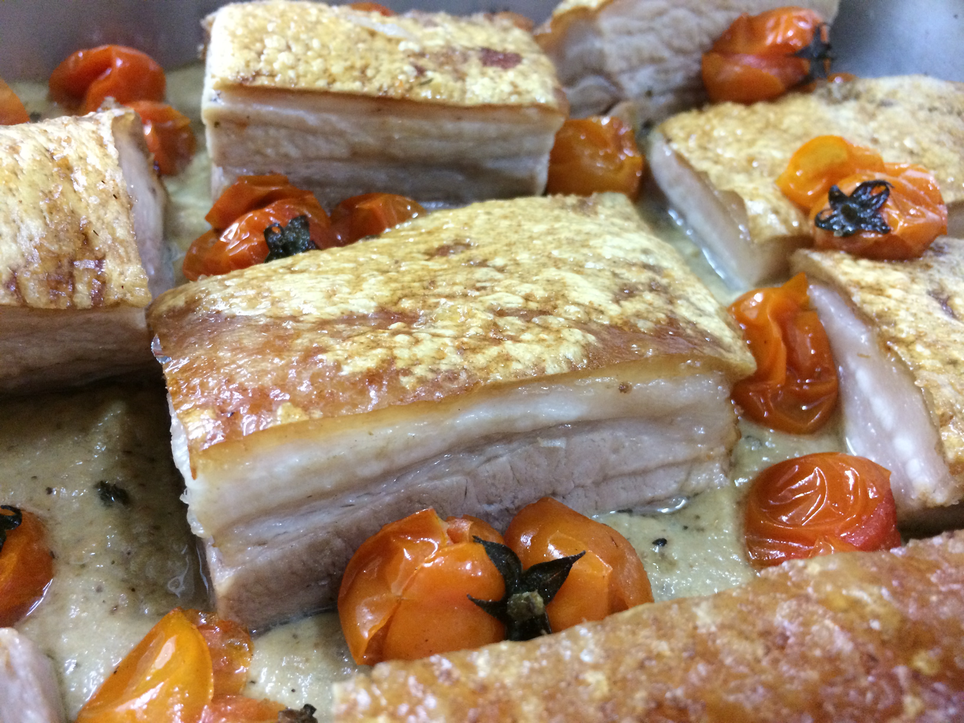 Pork Belly with Eggplant & Tomatoes