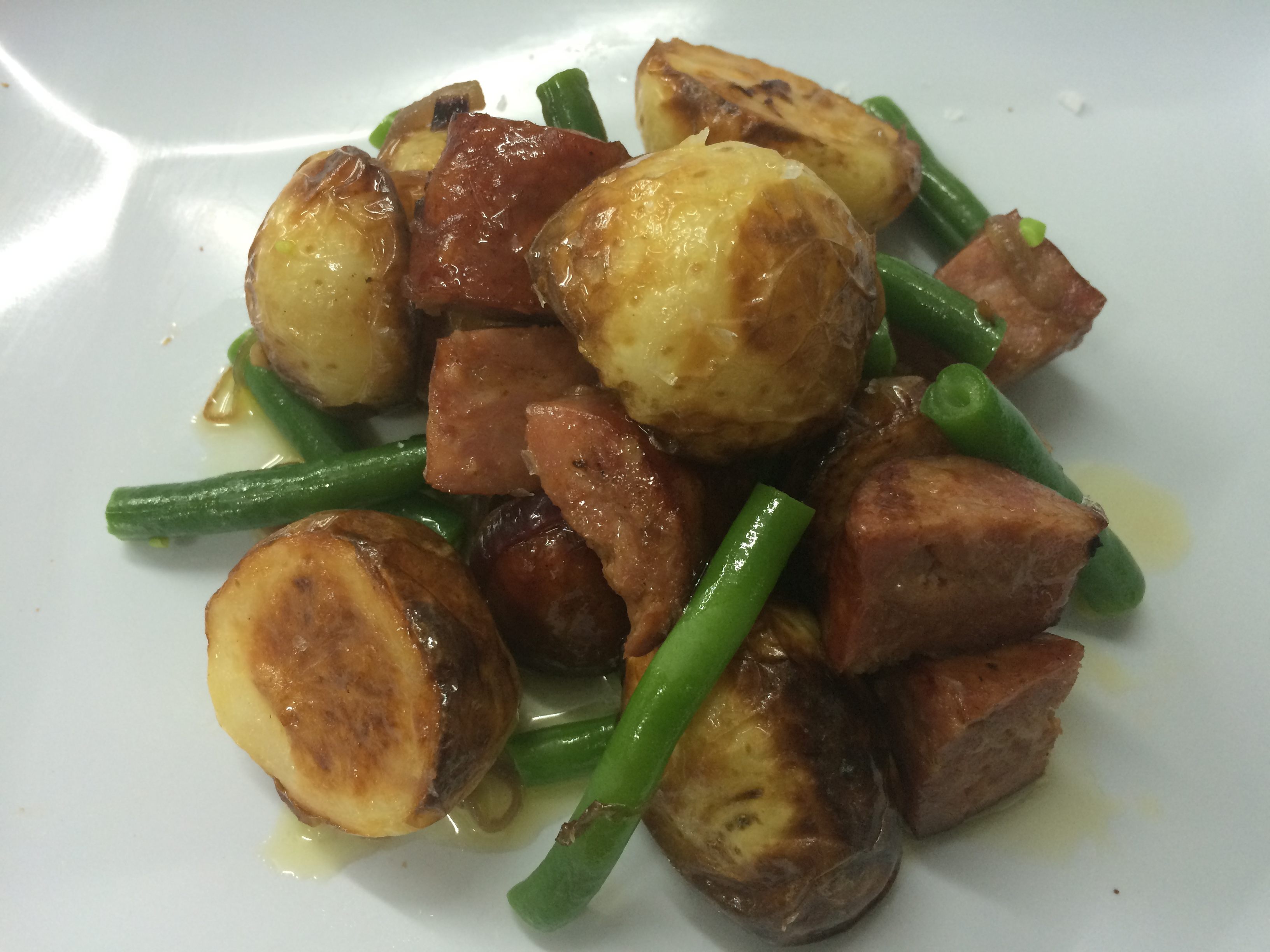 Warm Potato, Chorizo & Bean Salad