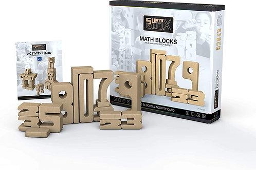 SUM BLOX Números de madera 43 piezas