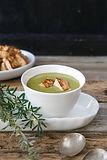 Creamy-Greens-Matcha-Soup-with-Tofu-Crou