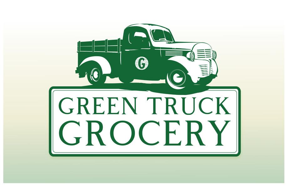 Green Truck Grocery Logo