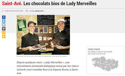 Article telegramme Lady Merveilles