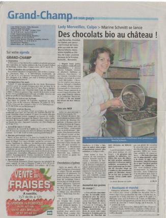 Article de presse Lady Merveilles
