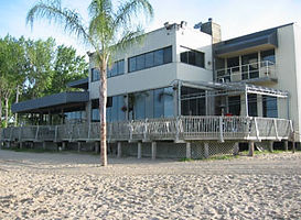 Beach view of the Beach House restaurant in Port Dover.
