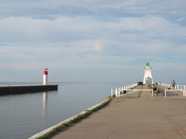 Port Dover piers.
