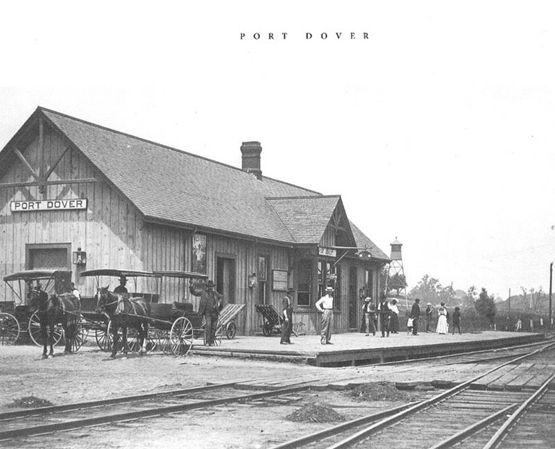 Port Dover train station 1908