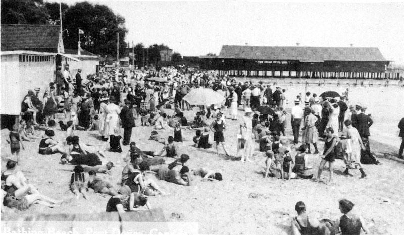 Port Dover beach 1920's.