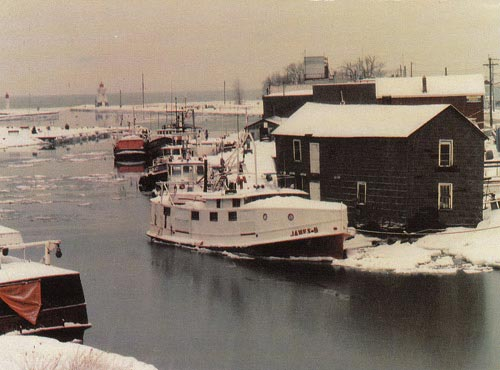 Winter in Port Dover Harbour