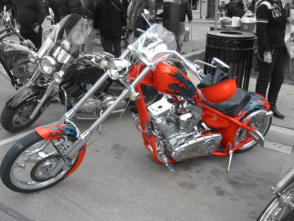 Red motorcycle Friday13th