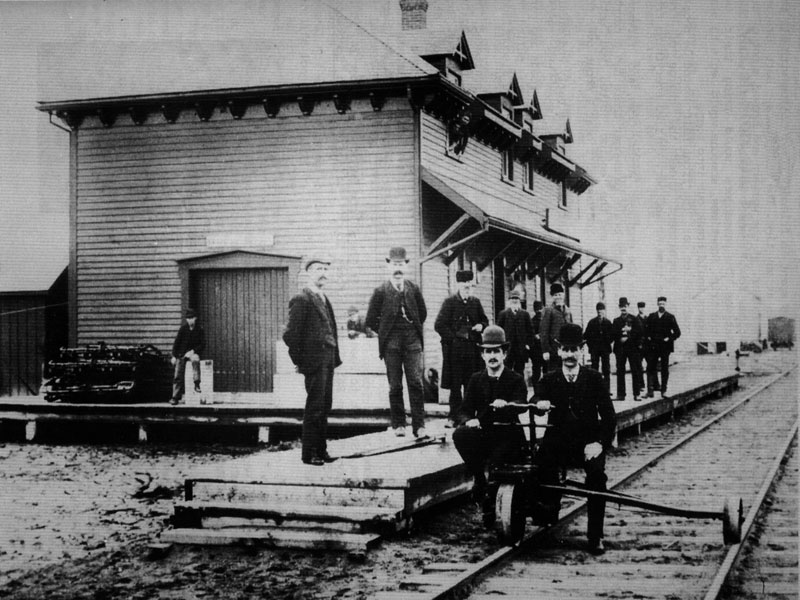 South-Norfolk-Train-Station-St.-Williams,-circa-1900