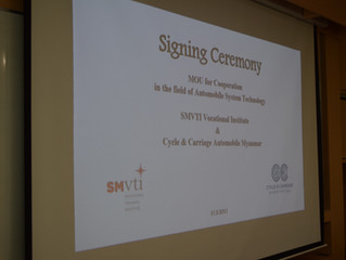 Signing of MOU Between SMVTI and Cycle & Carriage Automobile Myanmar
