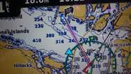 接收到无线电DSC求救讯号, 在GPS屏幕上显示对方呼救位置, 成为最佳教材