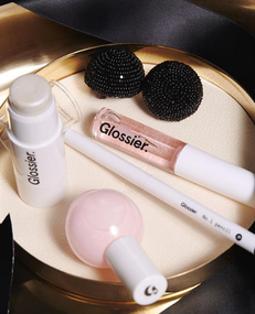 How To Get Your Glossier Party Look On With Their New Black Tie Set