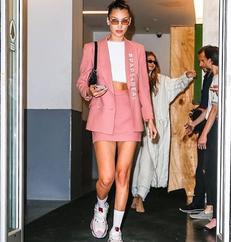 Be Pretty In Pink Like Bella Hadid At NYFW