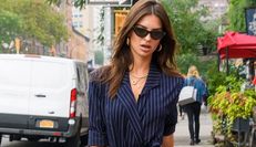 Fall Outfit Idea: Emily Ratajkowski's Blazer And Sneaker Combo Is A Look To Try