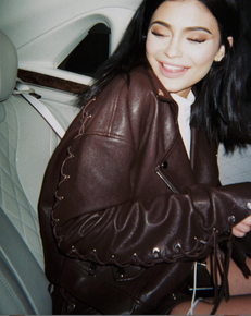 Kylie Jenner-Inspired Brown Leather Jackets For Fall