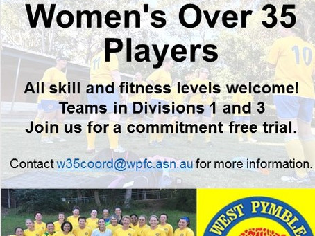 Women's Over 35s...seeking players!