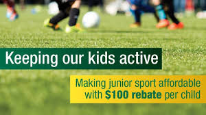 ACTIVE KIDS REBATE ($100 per child) - get it now to use for football registration!