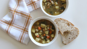 Recipe: Sweet Potato, Kale and White Bean Soup with chicken sausage