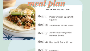 Meal Plan Monday: Week of 10/25 (recipes + meal prep)