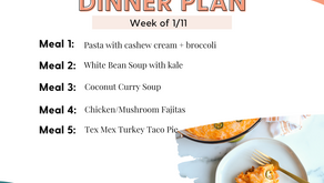 Meal Plan Monday: Family Dinners Week of 1/11
