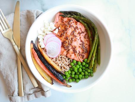 Spring Salmon Balance Bowls