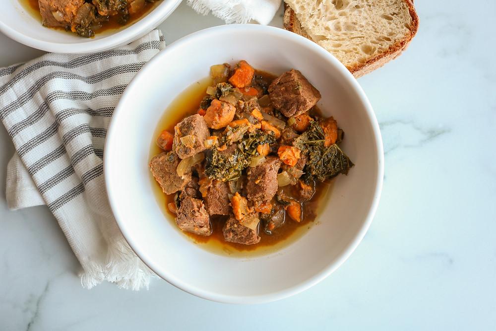 sweet potato kale beef stew