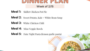 Meal Plan Monday: Family Dinners Week of 2/15