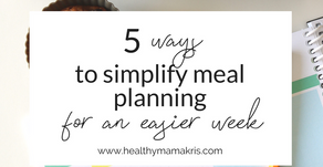 5 Ways to Simplify Meal Planning