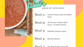 Meal Plan Monday: Week of 10/19 (recipes + meal prep)